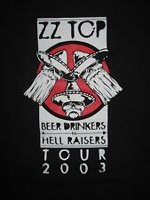 2003 ZZ TOP Beer Drinkers and Hell Raisers CREW Concert Tour (LG) Tank Top Shirt
