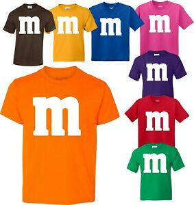 M and M Halloween Candy Birthday Christmas family T-Shirts