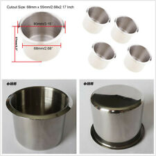 4 Pcs 68mmx55mm Stainless Steel Car RV Camper Boat Cup Drink Water Bottle Holder