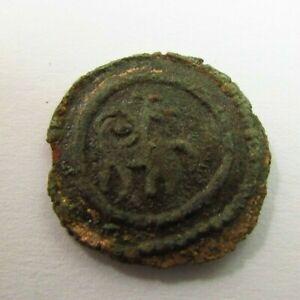 Henry I  Duke of Brabant circa 1183 AD  Bronze Denier (166)