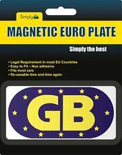 GB EU European Travel Car van Magnetic Blue Badges Plate Sticker France Spain
