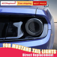 For Ford Mustang GT LED Taillights Assembly Dark / Red LED Rear Lamps 2015-2019