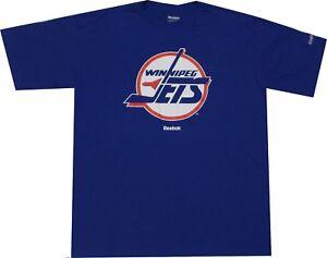 Winnipeg Jets Reebok Throwback Vintage Pro Style Oversized T Shirt Closeout