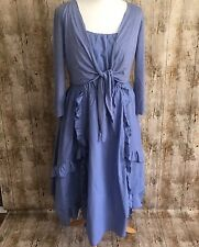 Joe Browns light blue dress with mock shrug size 14 boho quirky Lagenlook BNWT