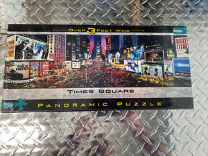 New Sealed Buffalo Panoramic Puzzle Times Square New York NY 750 pieces 3' Wide