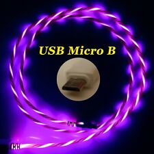 LifeShift Ladekabel für USB Micro B LED Soft-Light rot fliessend leuchtend 1m
