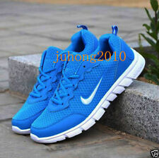 MENS AND BOYS, SPORTS TRAINERS RUNNING GYM SIZES Blue white UK8.0//EUR42