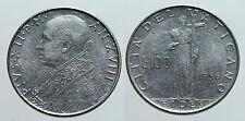 pcc972_3) Città del Vaticano Pio XII   lire 100 1956