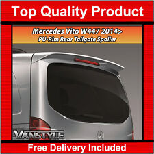 MERCEDES VITO W447 14+ TAILGATE REAR SPOILER PU OEM QUALITY NOT CHEAP FIBREGLASS