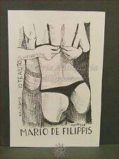 EROTICA - Ex-Libris Originale d'Artista con motto IO TE AIUTO (Reggiseno)