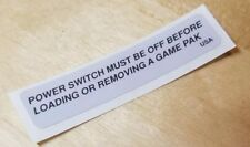 Super Nintendo Power Switch Warning LABEL STICKER ONLY  *FREE SHIPPING*
