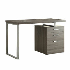 Coaster Home Furniture Home Office File Drawer Writing Desk, Weathered Gray