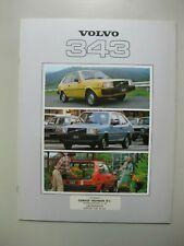 Volvo 343 prestige brochure Prospekt text Dutch 28 pages 1979