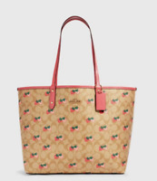 NWT COACH With Strawberry Print Reversible City Tote Limited Edition