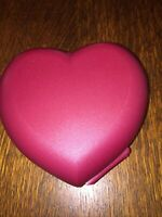 Tupperware Red Heart Container New In Plastic