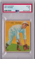 1933 Goudey Joe Cronin #109 PSA 3 P594