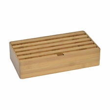 Dittrich Design Alldock Multi Ladestation für 6 USB-Anschlüsse bambus 31,5 x 17,