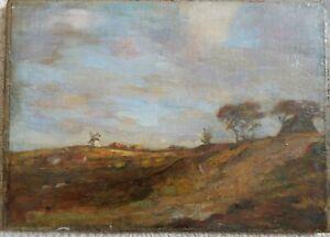 Late 19th Century Oil on Board, Landscape. Indistinct signature