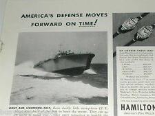 1942 HAMILTON Watch advertisement, wrist watches, mens & ladies