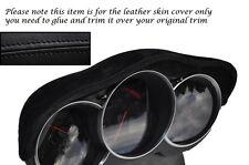 BLACK STITCH FITS MAZDA RX8 03-12 SPEEDO GAUGE HOOD PU SUEDE SKIN COVER ONLY
