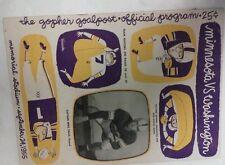 Vintage NCAA 1955 MINNESOTA GOPHERS Vs WASHINGTON COUGERS Football Program Rare