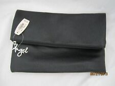 Victoria's Secret Angel Black Faux Leather Anniversary Foldover Clutch Tote Bag