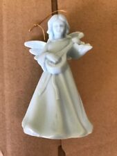 Handmade 1 Of A Kind Christmas Ornament Vintage Hard Plastic Blue Angel 😇