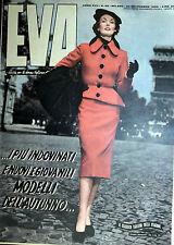 """* EVA N°40/ 30/SET/1950 * Rivista per la donna italiana diretta da """" Sonia """" *"""