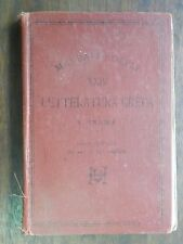 LETTERATURA GRECA Vigilio Inama Hoepli 1893 manuale libro XXIV Ulrico