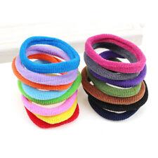 100pcs Hair Band Ties Elastic Cotton Seamless Hair No-Damage Band For Kids TXZ2