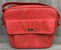 Vintage SAMSONITE Carry On Shoulder Tote Bag Red Vinyl