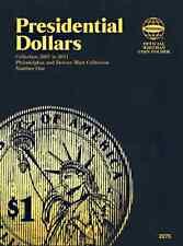 Whitman Presidential Dollars 2007 to 2011 Blue Push Coin Book 2275 Vol. 1 Folder
