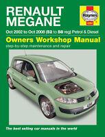 renault megane 1 4 1 6 petrol 1 5 1 9 diesel 02 08 52 to 58 reg rh ebay co uk renault megane 2 2003 manual renault megane 2003 workshop manual