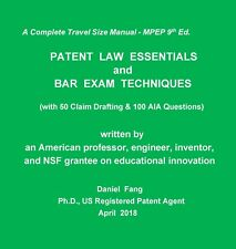 PATENT LAW ESSENTIALS and BAR EXAM TECHNIQUES