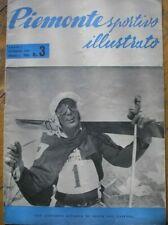 PIEMONTE SPORTIVO 3 1958 SCI LEO GASPERL CATULLO CIACCI RICCARDO FILIPPI GIOS