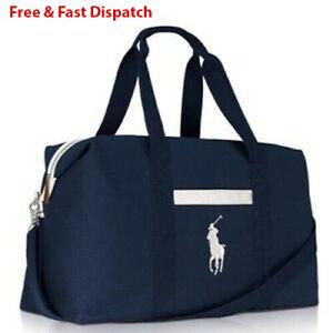Brand New Ralph Lauren Blue Duffle Holdall Sports Weekend Travel Overnight Bag