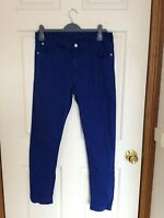 MARKS & SPENCER SIZE 12 BRIGHT BLUE JEANS PANTS