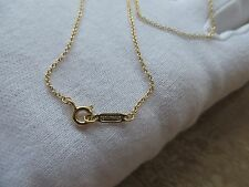 "Tiffany & Co. 18k Gold Chain Necklace. 20"" long"