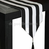Striped Pattern Table Runner Cover Chevron Polyester&Cotton Zigzag Stripe