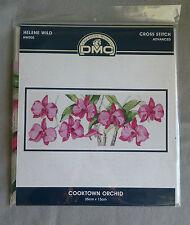 Cross Stitch Kit Advanced DMC 35x13cm COOKTOWN Orchid Hw005 16 Count Aida Wild