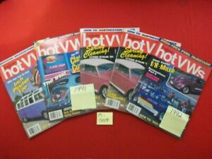 5 VINTAGE COLLECTIBLE ISSUES OF DUNE BUGGIES & HOT VWs MAGAZINE 1991-1992 VW BUG