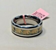 ELEPHANT BAND RING IN STAINLESS STEEL - SIZE 8