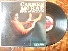 CARMEN MCRAE LP- BOOK OF BALLADS- RED KAPP KL 1117- MONO GROOVE DG- JAZZ