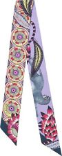 NIB Authentic Hermes Twilly The Savana Dance 100% Silk Twill Pink Purple