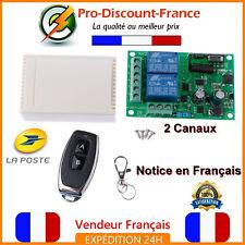 Kit Récepteur + Emetteur Radio Sans Fil Télécommande 220V Portail Porte Garage