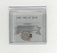 1904  Coin Mart Graded Canadian,  5 Cent, **EF-40**