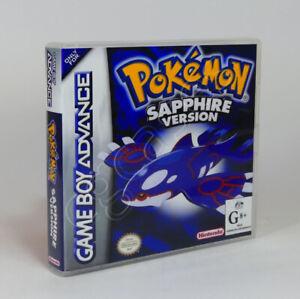 Game Boy Advance GBA Game CASE ONLY - Pokemon Sapphire (AU)