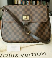 Authentic Louis Vuitton Besace Rosebery Damier Ebene Canvas Bag with Dust Bag
