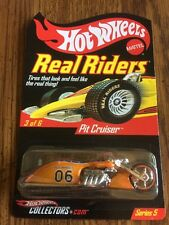 Hot Wheels PIT CRUISER Orange REAL RIDERS Motorcycle RLC HWCollectors.com