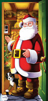 Santa Claus Door 30 X 60 Inches Sheet Cover Christmas Decoration Beistle